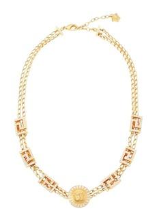Versace Greca Swarovski Crystal-Embellished Necklace