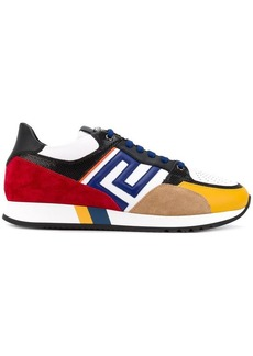 Versace Grecian colour block sneakers