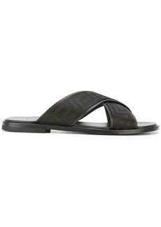 Versace Greek key crossover sandals