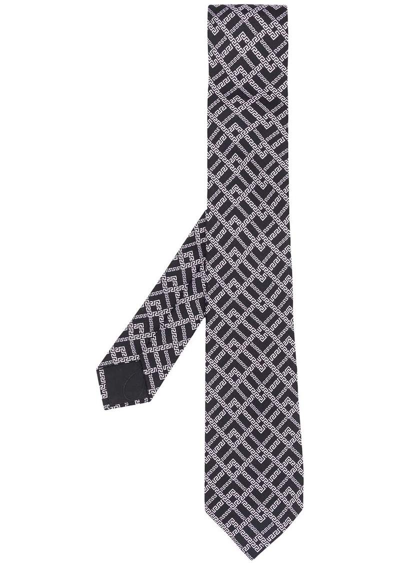 Versace Greek Key patterned tie