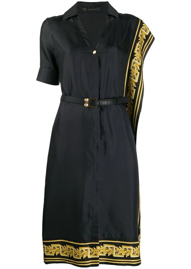 Versace Greek Key trimmed dress