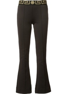 Versace Greek Key waistband flared leggings