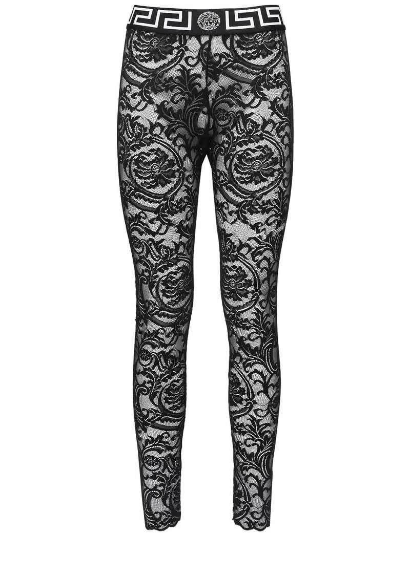 Versace Greek Lace Elastic Leggings