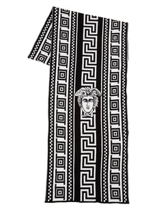 Versace Greek Motif Cotton Wool Jacquard Scarf