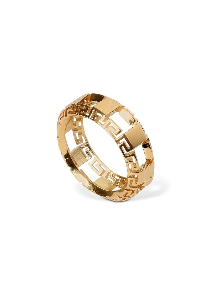 Versace Greek Motif Cutout Ring