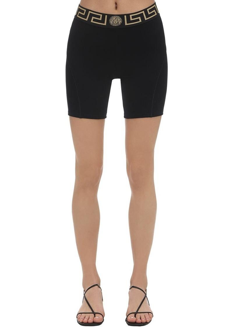 Versace Greek Viscose Jersey Cycling Shorts