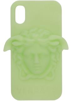 Versace Green 3D Medusa iPhone X Case