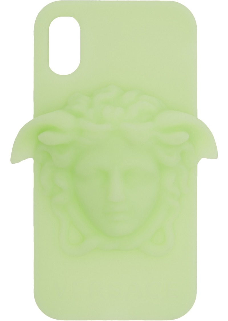 Versace Green Glow-In-The-Dark iPhone X Case