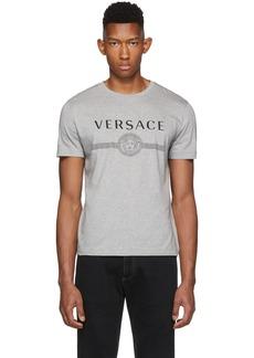 Versace Grey Logo Medusa T-Shirt