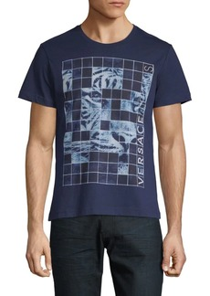 Versace Grid Graphic Cotton Jersey Tee