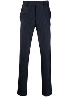 Versace GV pinstripe jacquard trousers