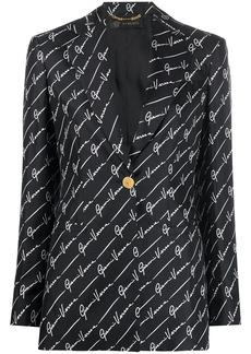 Versace GV Signature fitted blazer