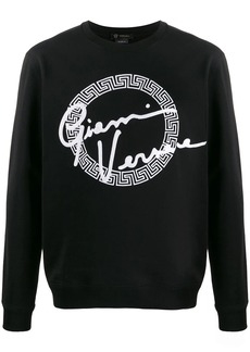Versace GV signature print sweatshirt
