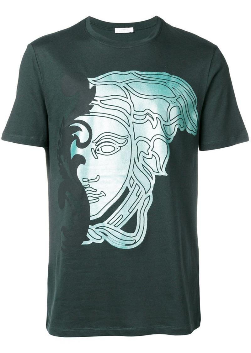 3791b9b414f Versace half Medusa print T-shirt