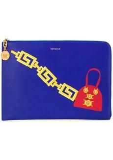 Versace handbag print clutch