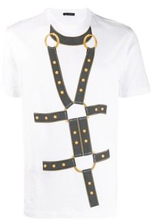 Versace harness print T-shirt