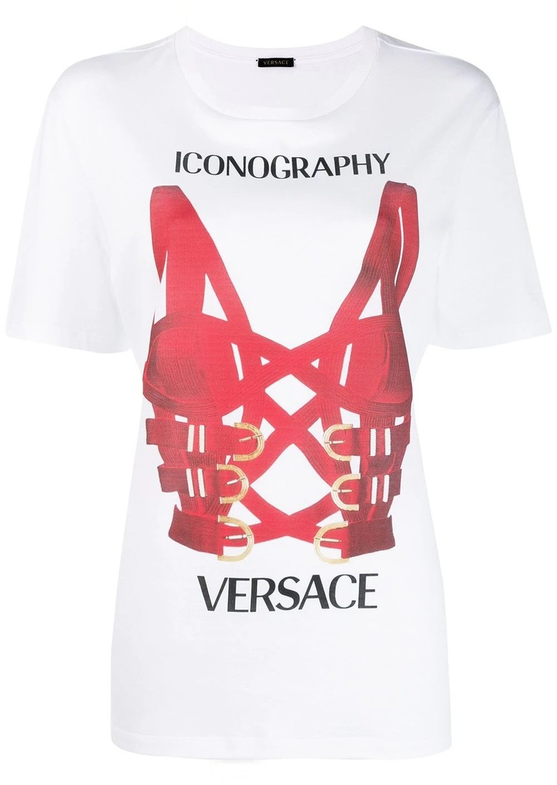 Versace harness printed T-shirt