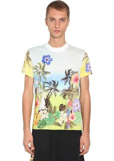 Versace Hawaii Print Cotton T-shirt