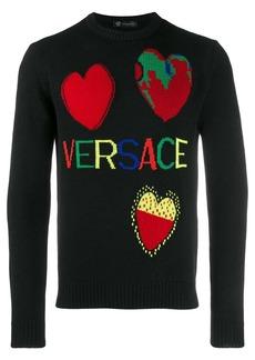Versace heart detail sweater
