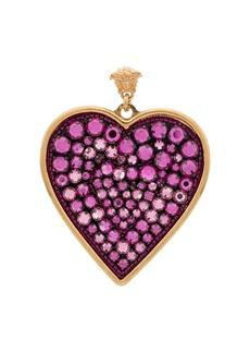 Versace heart drop earrings