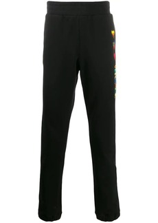 Versace heart logo embroidered track pants