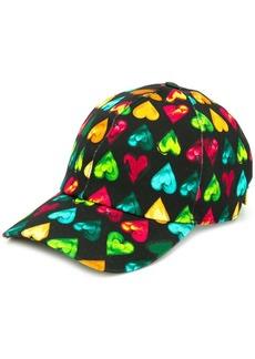 Versace heart print cap