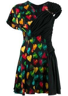Versace heart print mini dress