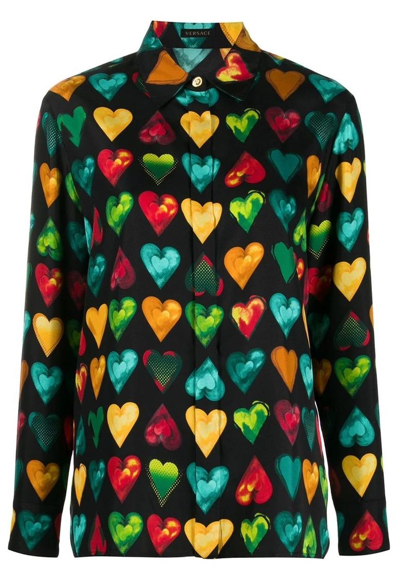 Versace heart print shirt