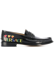Versace hearts logo loafers