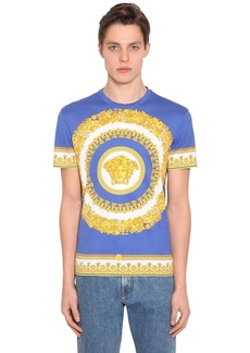 Versace Heritage Baroque Print Cotton T-shirt