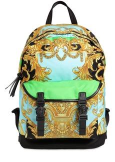 Versace Heritage Printed Nylon Backpack