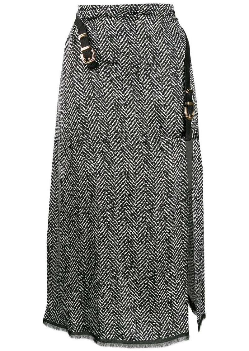 Versace herringbone midi skirt