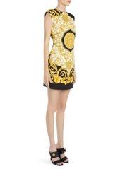 Versace Hibiscus Print Mini Dress