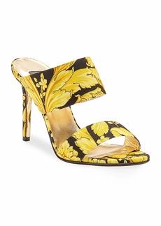 Versace Hibiscus Slide Mule Sandals