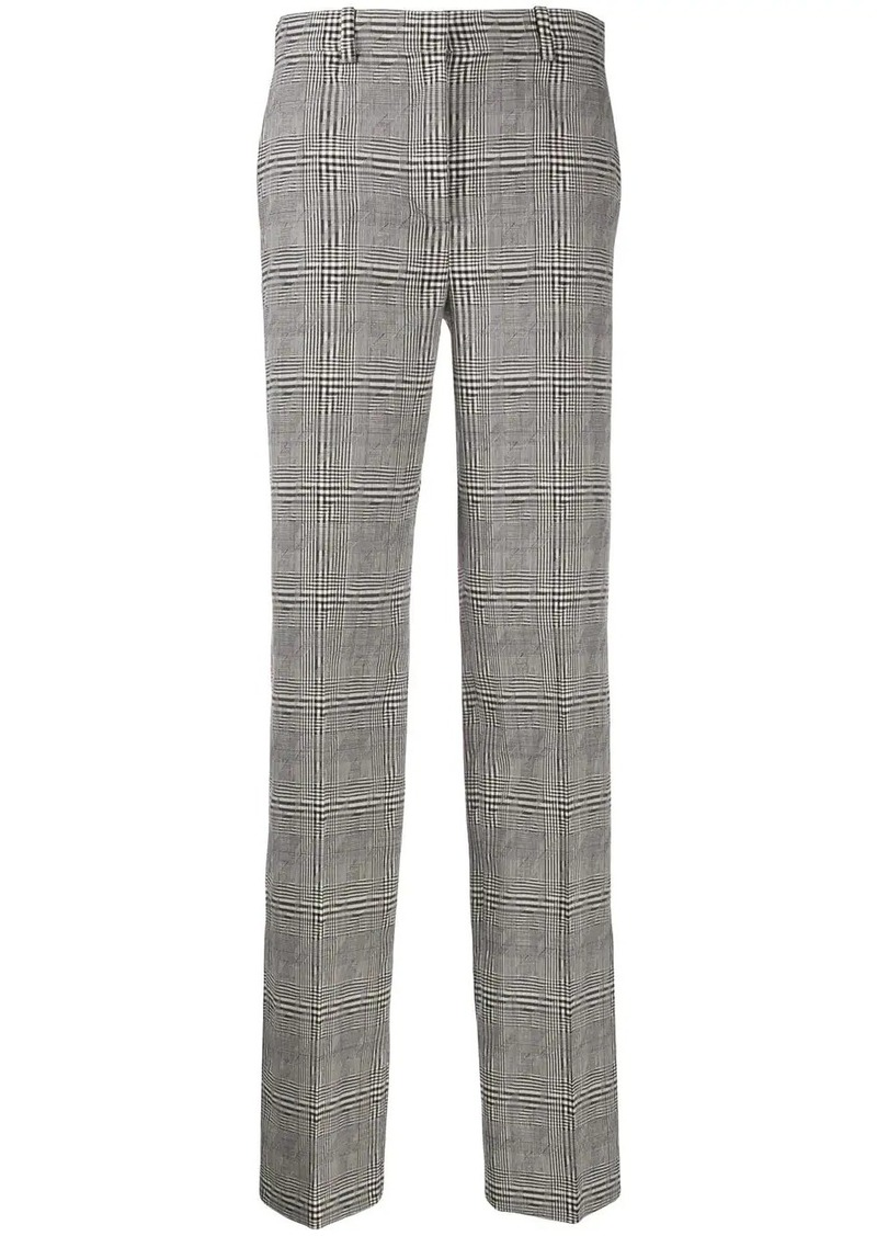 Versace high-rise check trousers
