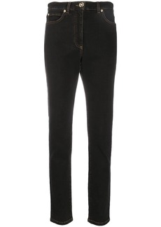 Versace high-rise slim fit denim jeans