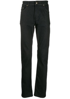 Versace high rise straight leg jeans