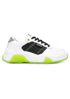 Versace high top contrasting panel sneakers