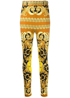 Versace high waist baroque trousers