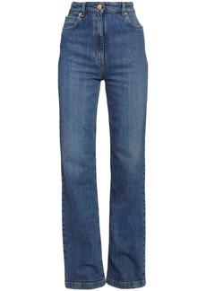 Versace High Waist Cotton Denim Flared Jeans