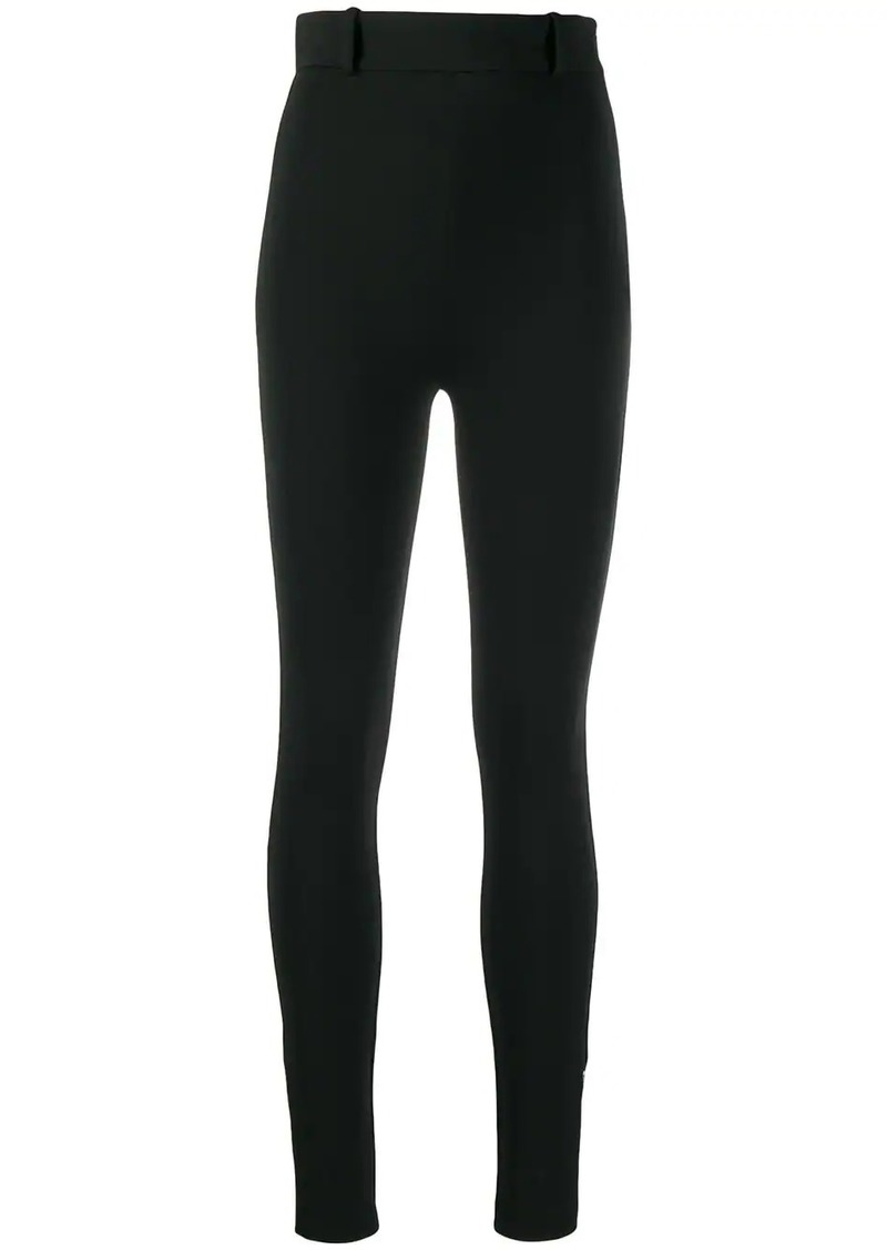 Versace high-waist skinny trousers