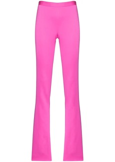 Versace high-waisted flared trousers
