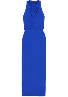 Versace Hooded Crepe Maxi Dress