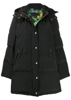 Versace hooded puffer coat