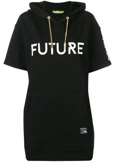 Versace hooded short sleeve long jumper