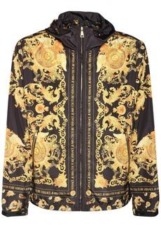 Versace Hooded Zip-up Baroque Jacket