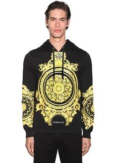 Versace Hoodie W/ Gold Barocco Print