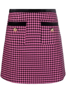 Versace houndstooth-patterned A-line mini skirt