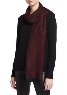 Versace Houndstooth-Print Wool Scarf