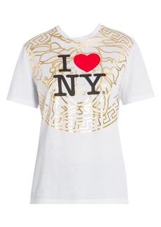 Versace I Heart NY Medusa Tee
